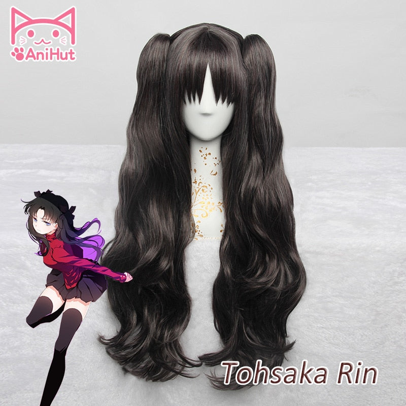 Tohsaka Rin Long Curly Wig Black Fate Grand Order Fate Stay Night