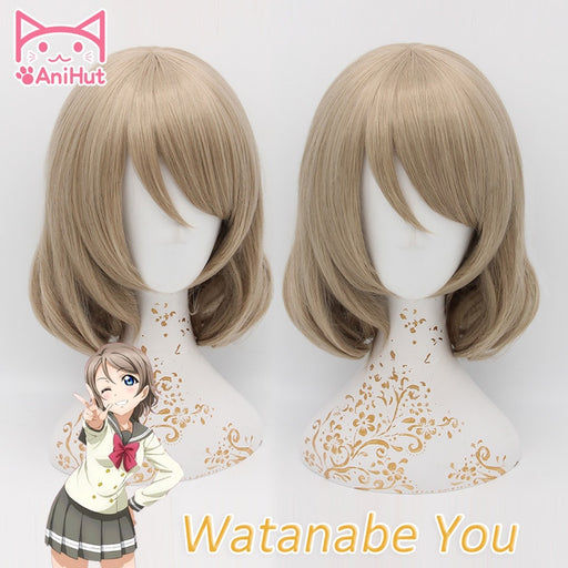 You Watanabe Love Live Wig Sunshine Short Wig Blonde