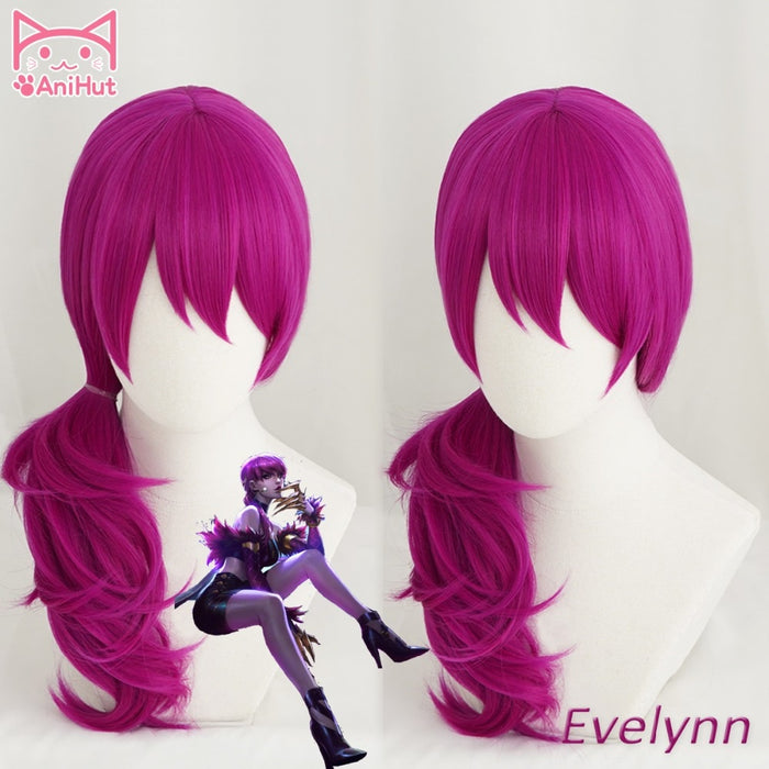 Wig KDA  POP/STAR Evelynn Long Wig Dark Pink KPOP