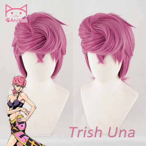 Trish Una Wig JOJO Bizarre Adventure Golden Wind Short Wig Pink