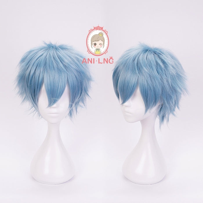 Anilnc Short Wig Blue Men My Hero Academic Shigaraki Tomura Cosplay Synthetic Hair