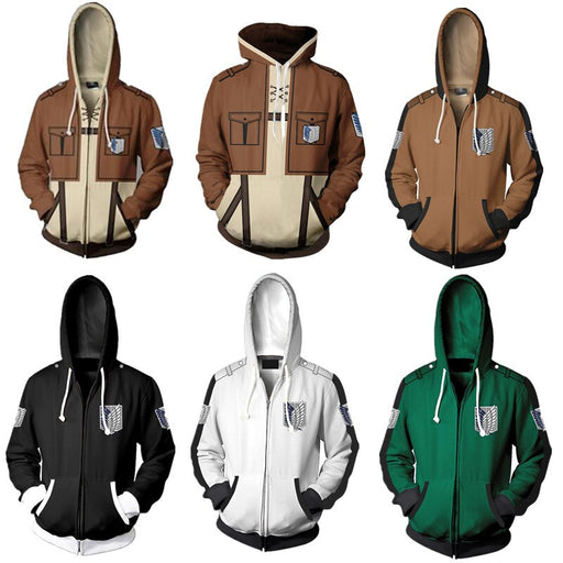 Shingeki no Kyojin Attack On Titan hoodie jacket Legion Eren cosplay costume Sweatshirts Zipper Hoodies