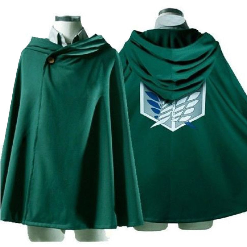 Shingeki no Kyojin Attack on Titan Cosplay Cloak The Scouting Legion Eren Jaeger Dust Coat Cape Costumes