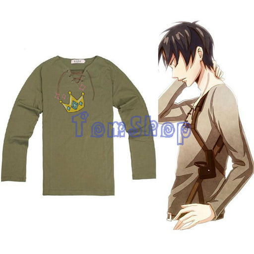 Shingeki no Kyojin Anime Attack on Titan Eren Cosplay Costume Unisex Long Sleeve T-shirt Tops Tee Shirts