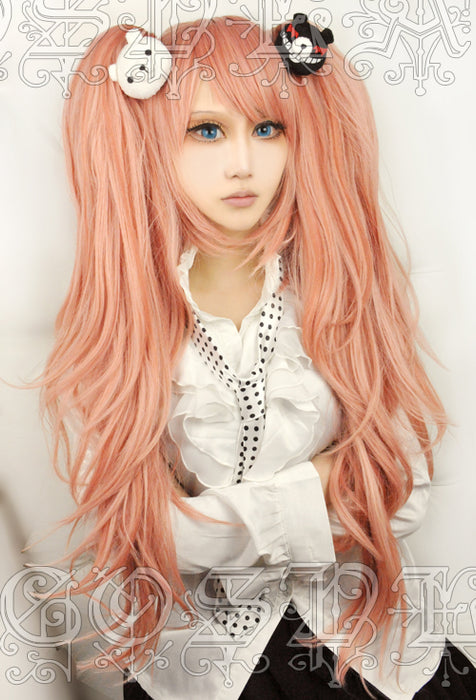 Enoshima Junko Anime Dangan Ronpa  wig Cosplay Costume Danganronpa Women Synthetic Hair+Hairnet