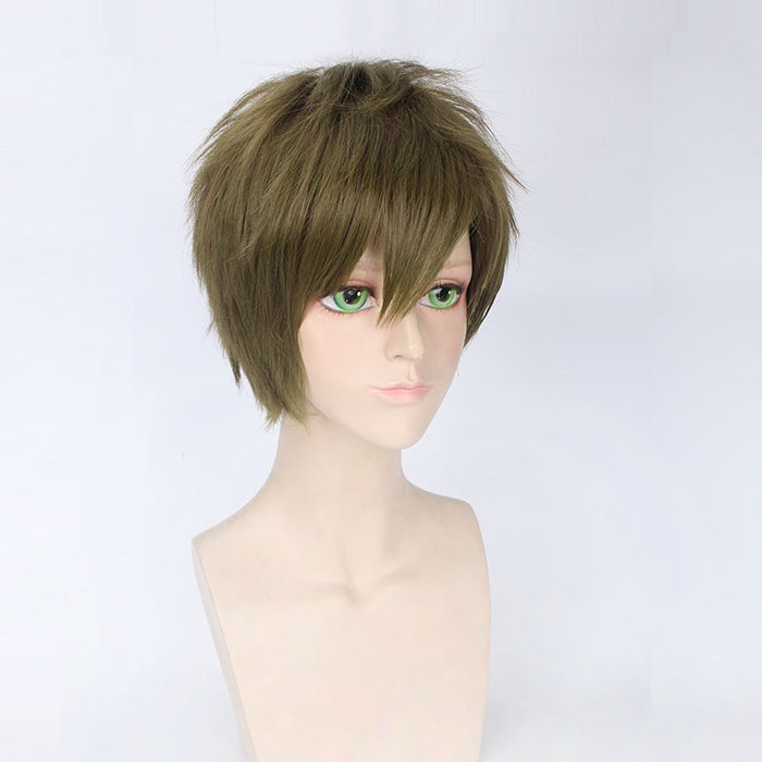 Makoto Tachibana Anime Free! Short Wig Ash Green Cosplay Costume Short Synthetic Hair