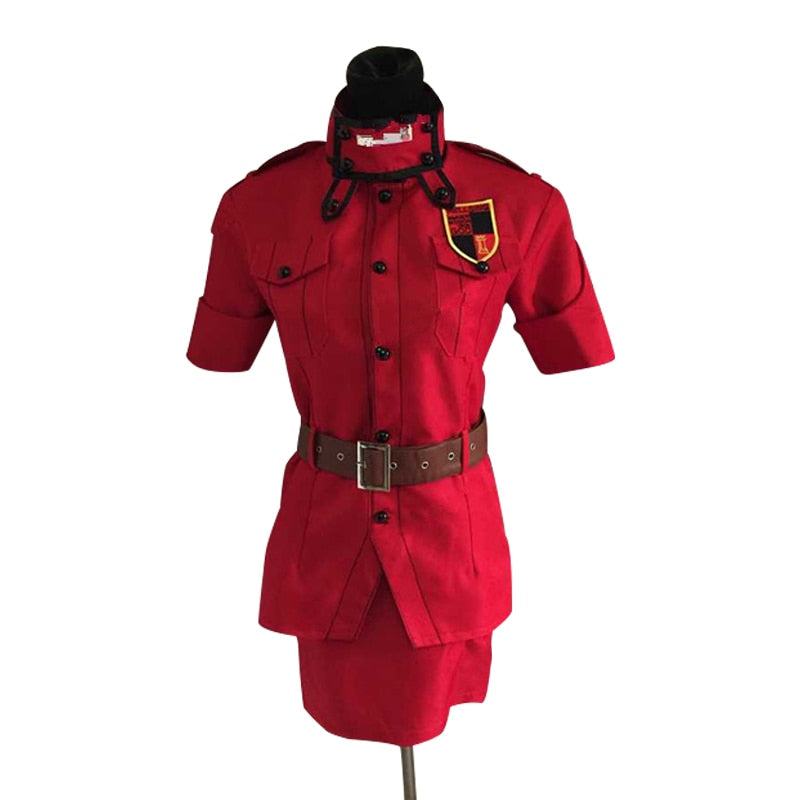 Hellsing Seras Victoria Red Cosplay Costume With Socks Custom Made Any Size