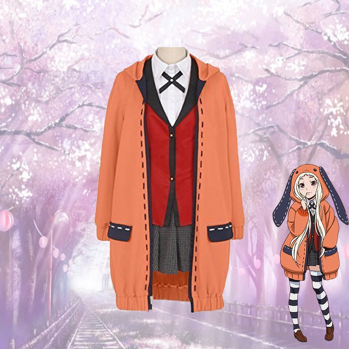 Kakegurui Yomotsuki runa Halloween Cosplay Costume JK School Girls Uniform Hoodie for Women