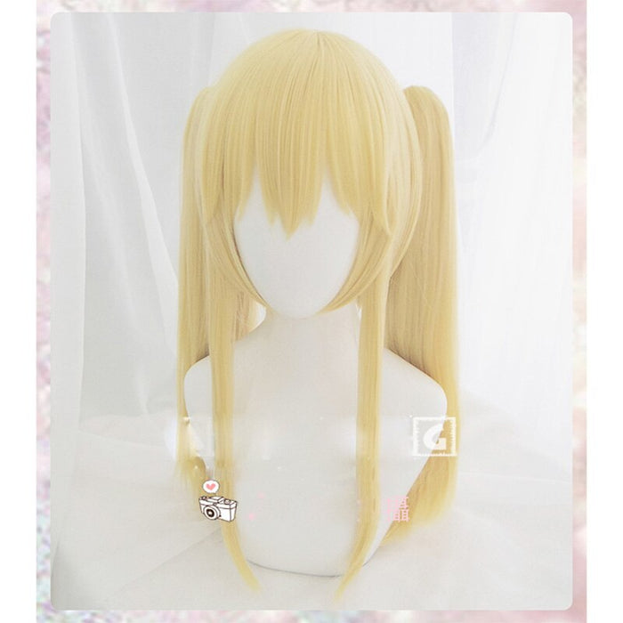 Long Straight Wig Light Gold Anime Kakegurui Saotome Meari Cosplay Women/Girls  + wig cap