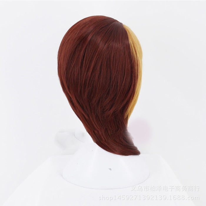 Rutile Anime Land of the Lustrous Medium Wig Brown Gold Mixed Cosplay Costume Houseki no Kuni Men Women Synthetic Hair