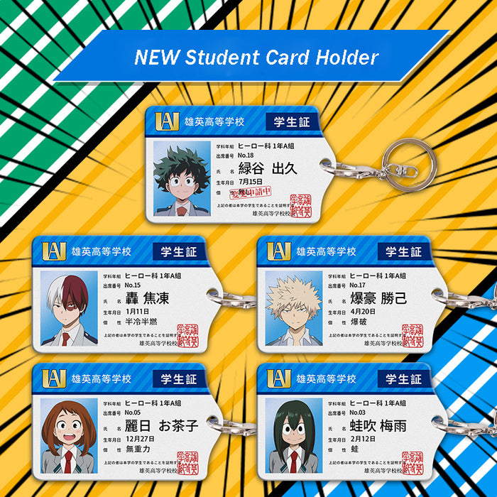 My Hero Academia Acrylic Cards Holder Keychain For Bag's Pendant Cosplay Gifts