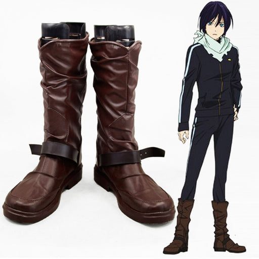 Yato Noragami Cosplay Shoes Leather Boots Unisex