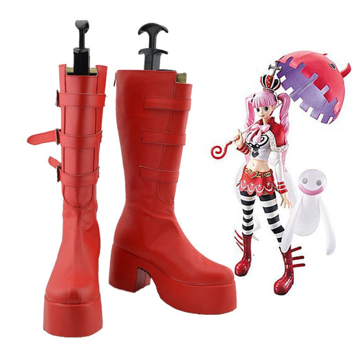 Perona One Piece Red Boots cosplay Custom Made