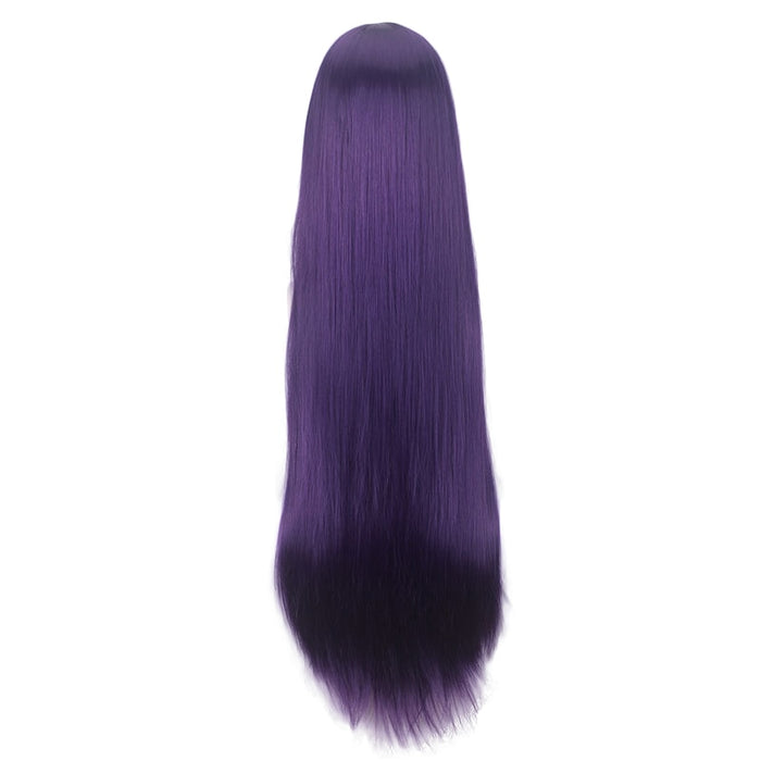 Albedo Anime Overlord Long Straight Wig Ash Blue / Purple Cosplay Costume Women Synthetic Hair
