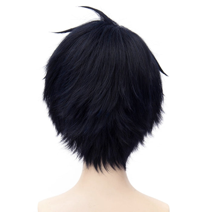 Yuichiro Hyakuya Seraph of the End Short Wig Black Cosplay Costume Unisex