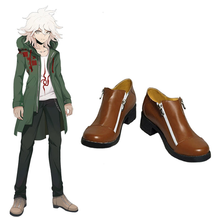Nagito Komaeda Super Danganronpa 2 Cosplay Boots Custom Size Halloween Shoes