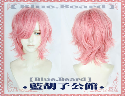 Yarichin Bitch Bu Club Ayato Yuri  Pink Short Curly Wig