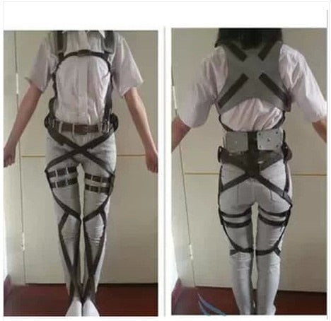 Attack On Titan Shingeki No Kyojin Recon Corps Harness Belts Hookshot Cosplay Costume Adjustable Belts
