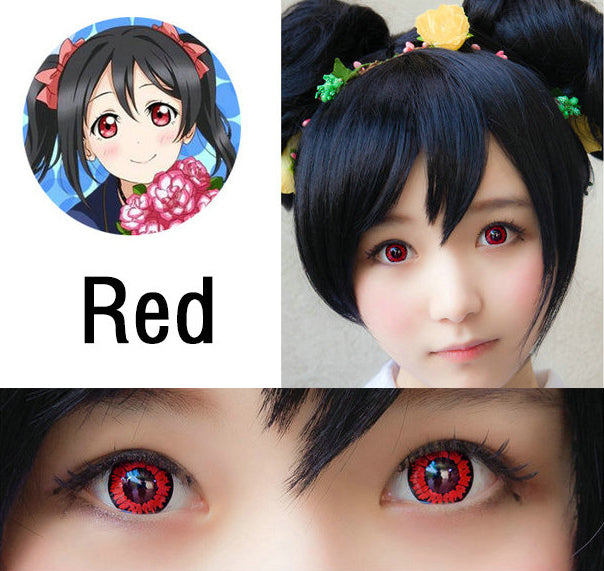 Coscon LoveLive Red Nico Yazawa Cosplay Contact Lens