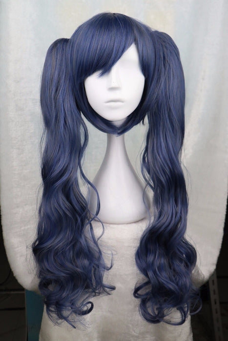 Kuroshitsuji Ciel Phantomhive Cross-dressing Girl Long Curly Wig Dark Blue Cosplay Wig