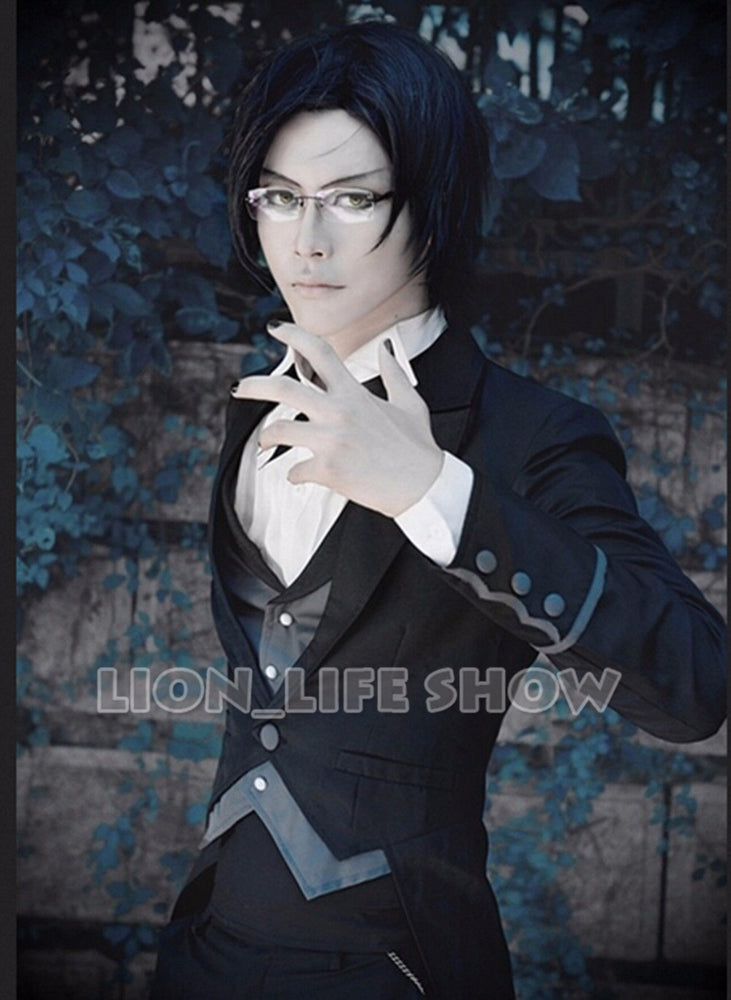 Black Butler 2 Claude Faustus Black Demon Suit Outfit Cosplay Costume Uniform
