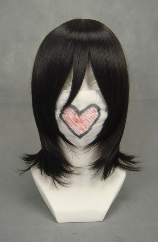 Kuchiki Rukia Bleach 40cm Medium Wigs Black Female Anime Costume Synthetic Hair