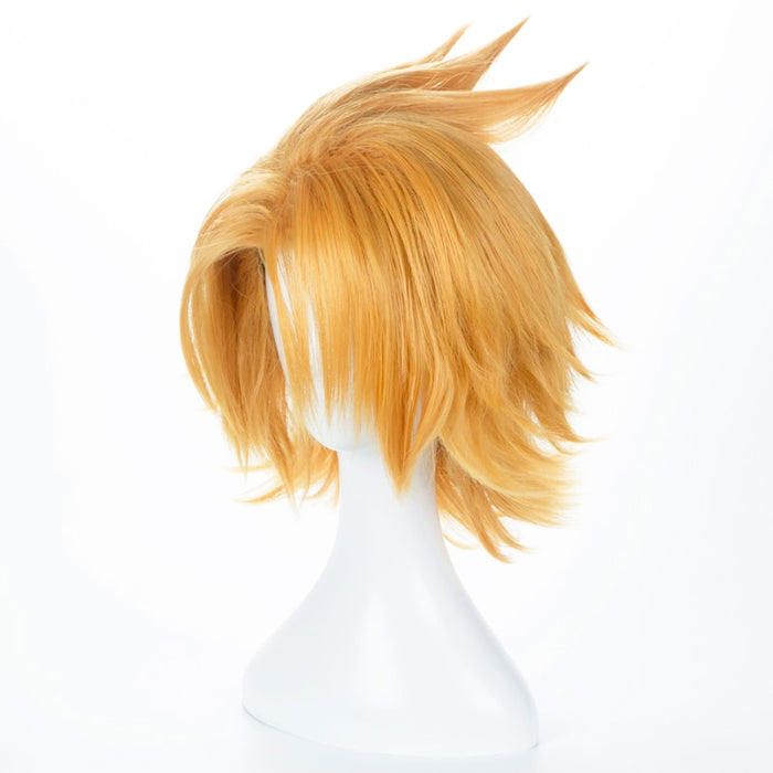Kaminari Denki My Hero Academia Short Wig Gold Cosplay Costume Unisex Synthetic Hair