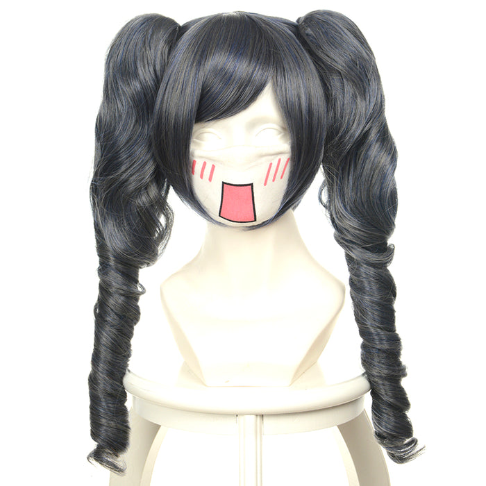 Black Butler ministers Sebastian Michaelis Accessories Hairwear Long Wig Black Gray