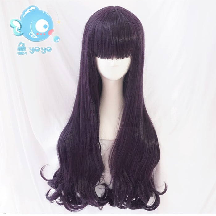 Card Captor Sakura CLEAR CARD Tomoyo Daidouji 70cm Long Curly Wig Purple