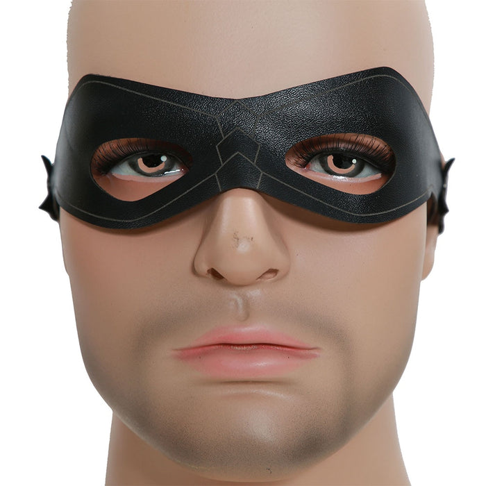 Green Arrow Oliver Queen Cosplay Black Eye Patch Halloween Costume Mask Party Cosplay Props