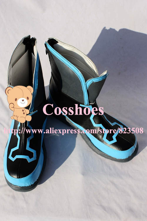 Sora Kingdom Hearts Custom made blue Shoes Cosplay
