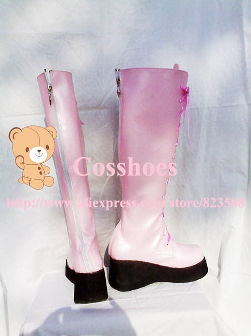 Kairi Kingdom Hearts Custom made pink Shoes boots