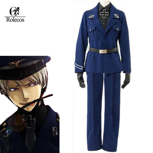 Axis powers Hetalia Prussia Customized Anime APH Cosplay Costume Blue Navy Uniform