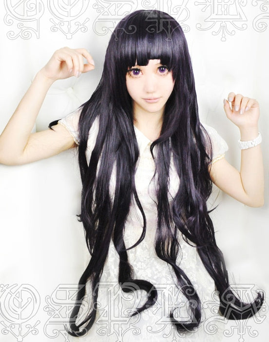 Mikan Tsumiki Danganronpa 2 Cosplay Hair Black Long Curly Wig