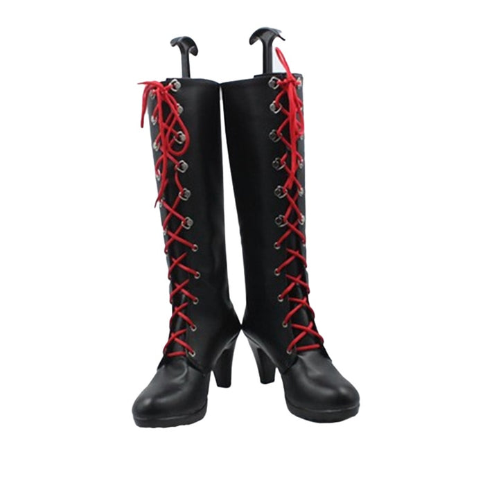 Junko Enoshima Danganronpa Cosplay Custom Made High-Top Lace-Up Boots
