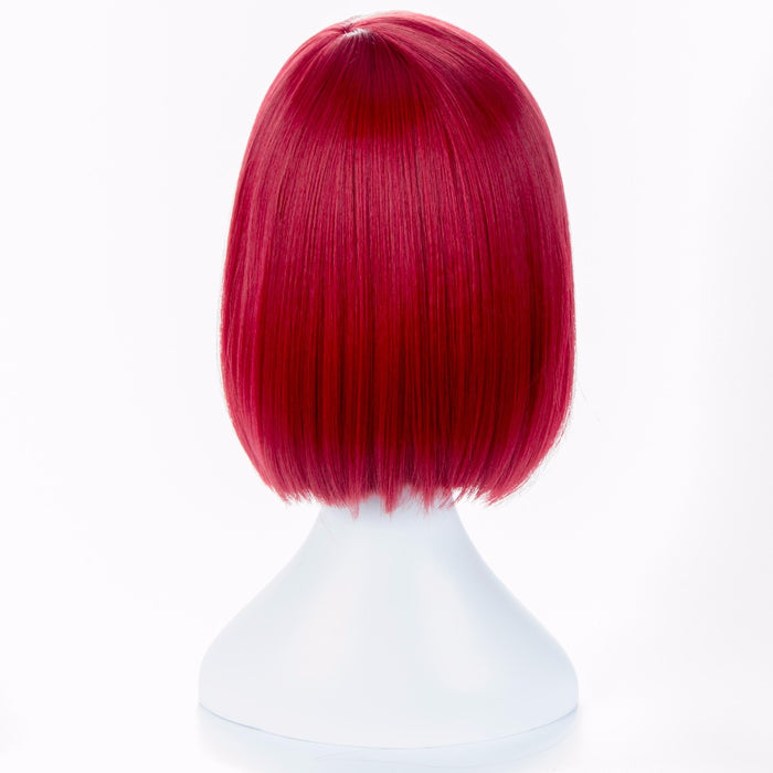 35cm Short Straight Wig Red Himiko V3 Killing Harmony Wine Bangs Bob Anime Cosplay Hair + wig cap