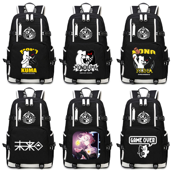 Komaeda Nagito Cosplay Hinata Hajime Danganronpa Monokuma Backpack Nylon School Bag Travel Bags