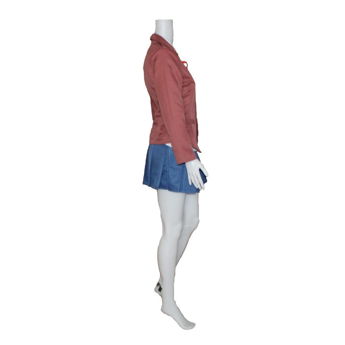 Doki Doki Literature Club Monika Cosplay Sayori Yuri Natsuki Cosplay Costume School Uniform With Hair Accessory