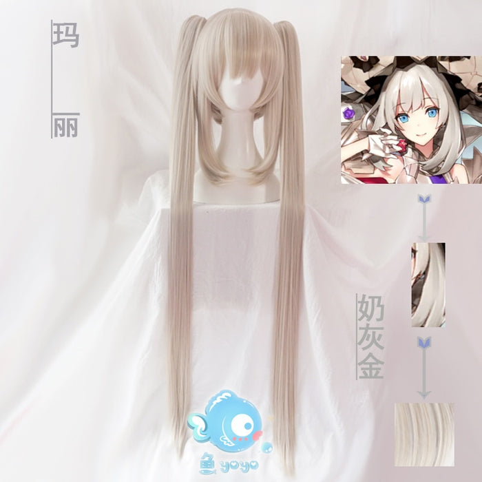 FGO Fate Grand Order Long Straight Wig Ponytail Blonde Marie Antoinette