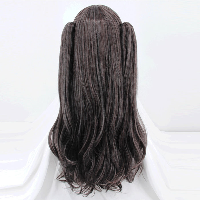 Rin Tohsaka Fate/Stay Night Two Ponytails Long Curly Wig Black Cosplay Costume Grand Order Women Synthetic Hair