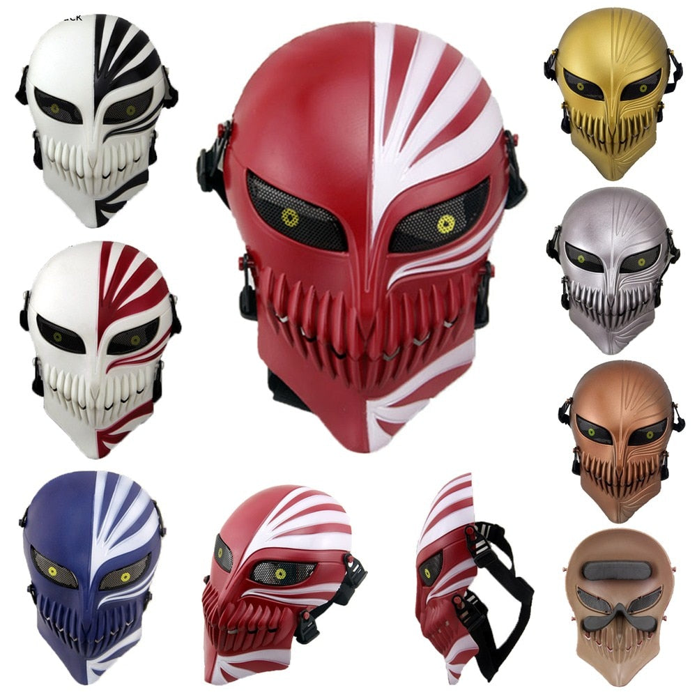 Death Bleach Mask Halloween Masquerade Skull Cosplay Costumes CS War Game Tactical Props