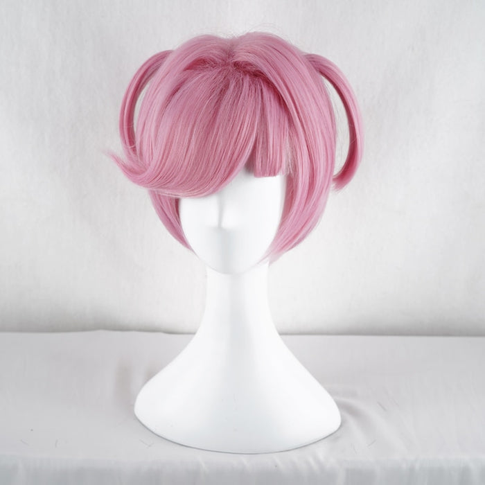 Natsuki Game Doki Doki Literature Club Pink Short Wig Cosplay Costume Women Synthetic Hair