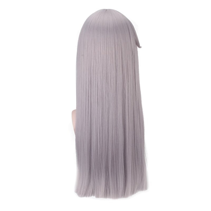 IDOLiSH7 Game Re:vale YUKI Long Straight Wig Silver Gray Cosplay Costume Men Synthetic Hair