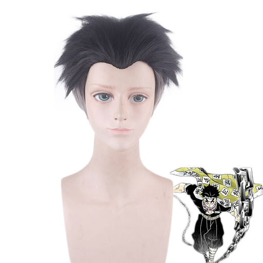 Gyoumei Himejima Kyoumei Demon Slayer Kimetsu no Yaiba Short Cosplay Wigs