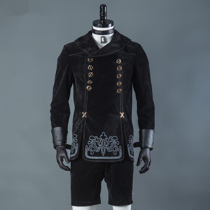 NieR Automata 9S Cosplay Costumes Men Fancy Party Outfits Coat YoRHa No. 9 Type S Full Set for Halloween