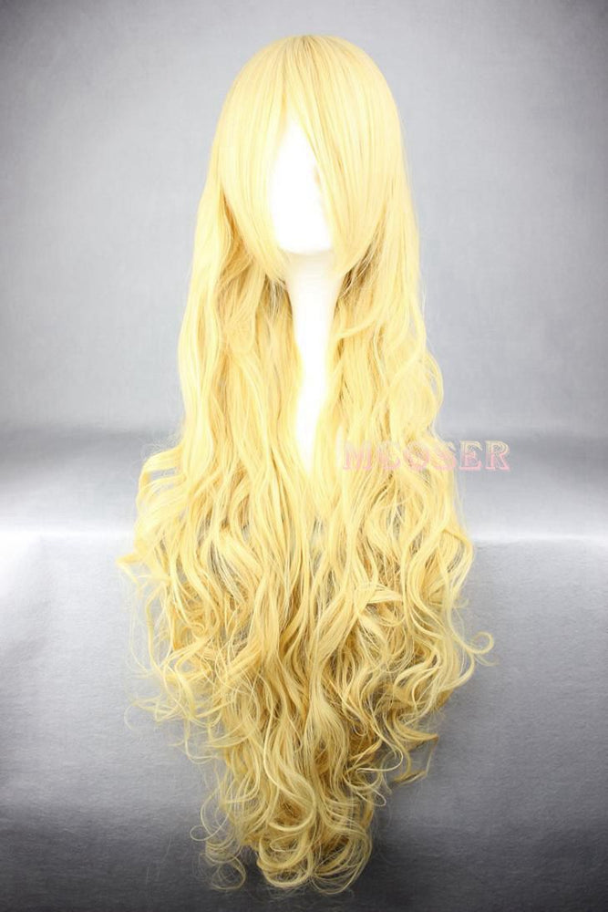 Irina Jelavić Assassination Classroom Long Wavy Hair Wig Golden 80cm