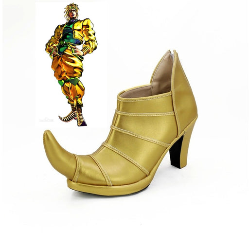 JOJO'S BIZARRE ADVENTURE 3 Dio Brando Cosplay Shoes High Heel Custom Made
