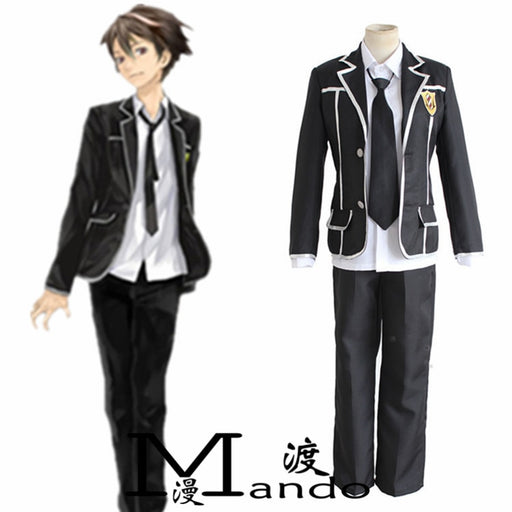 OUMA SHU Guilty Crown cosplay costume School uniforms full suit Top+ Skirts+ Bow tie
