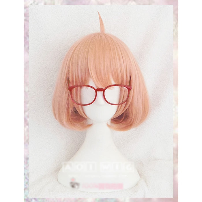 Kuriyama Mirai Kyokai no Kanata Short Wig Orange Synthetic Cosplay Hair Wig +Wig Cap