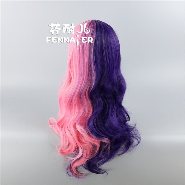Lolita Long Wavy Wig Pink Mixed with Purple Cute